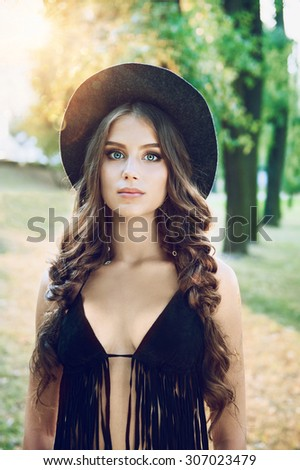 beautiful girl in the hat