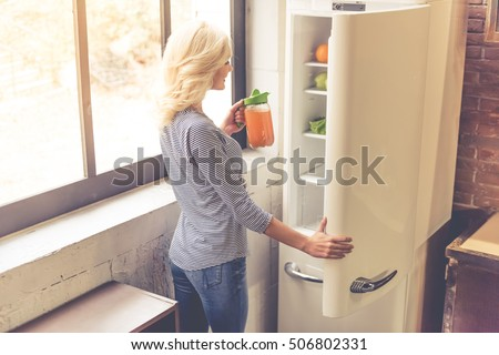 Fridge In Kitchen open refrigerator stock images, royalty-free images & vectors