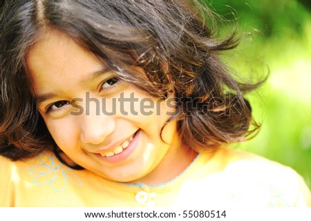Beautiful girl outdoor - stock photo