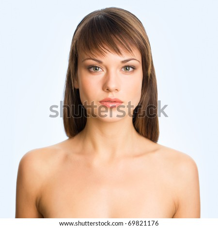 Beautiful girl . Perfect skin concept - stock photo
