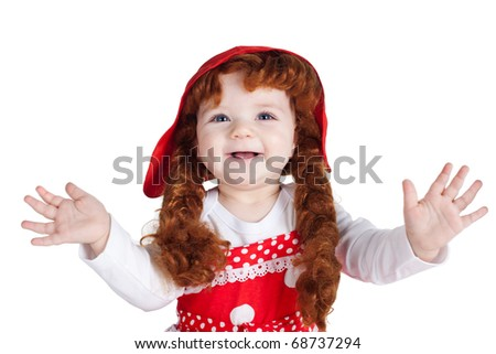 beautiful girl portrait - stock photo