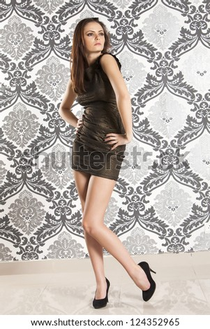 Beautiful girl posing - stock photo