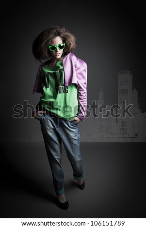 beautiful girl shoot in the studio/beautiful girl 5/ - stock photo