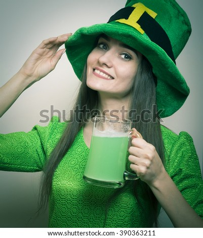 Beautiful girl - St. Patrick's Day