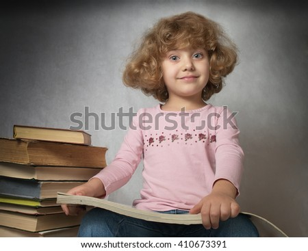 beautiful girl with a book in hand
