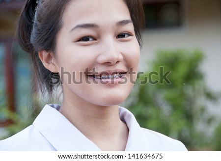 Beautiful Girl with Braces
