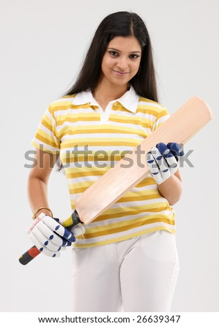 Beautiful girl with cricket bat and gloves  sc 1 st  Shutterstock & Beautiful Girl Cricket Bat Gloves Stock Photo (Royalty Free ...