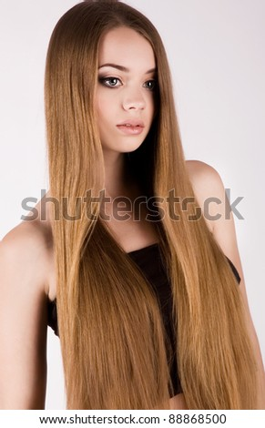 beautiful girl with  gorgeous hair