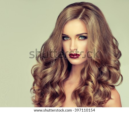 fair hair style beautiful wavy hair fairhaired stock photo 4854 | stock photo beautiful girl with long wavy hair fair haired model with curly hairstyle and fashionable 397110154