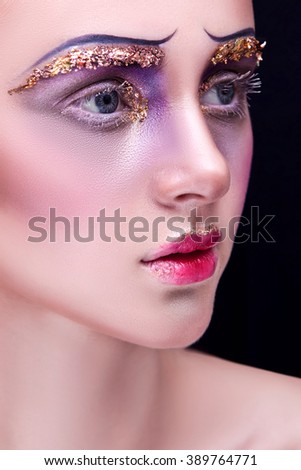 beautiful girl with make-up