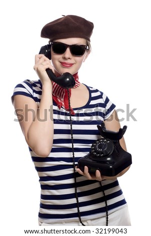 Fasciated stock photos royalty free images vectors for French striped shirt and beret