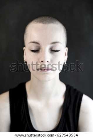 shaved-head-girl
