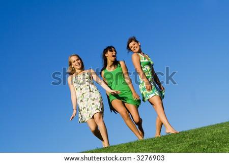 beautiful girls - stock photo