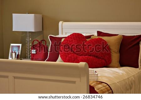 Beautiful girls bedroom. - stock photo