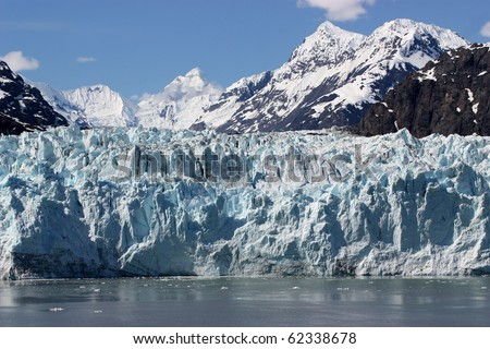 Beautiful Glacier in Glacier Bay, Alaska. - stock photo