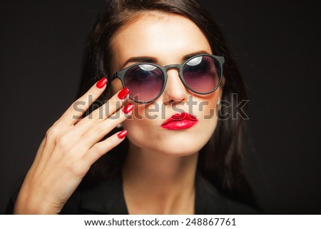 Beautiful Fashion Model Girl Hand On Stock Photo 246013186 ...