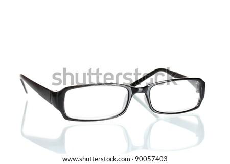 beautiful glasses isolated on white - stock photo