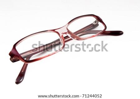 Beautiful glasses isolated on white background - stock photo