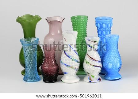 Beautiful Glassware Vases Stock Photo Royalty Free 501962011