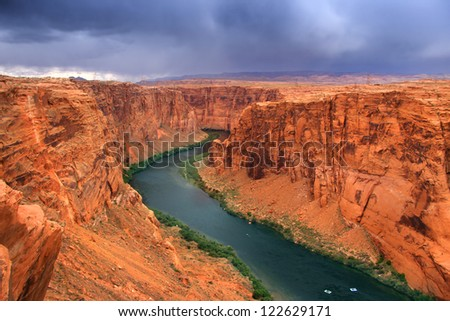 Beautiful glen canyon area - stock photo