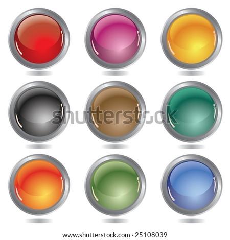 Beautiful glossy balls - stock photo
