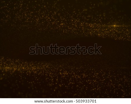 Beautiful Gold Particles with Lens Flare - Luxury Background Design Element