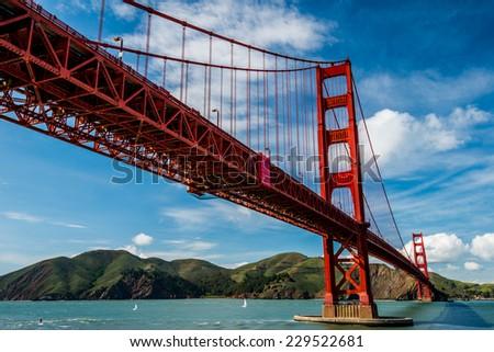 Beautiful Golden Gate Bridge - stock photo