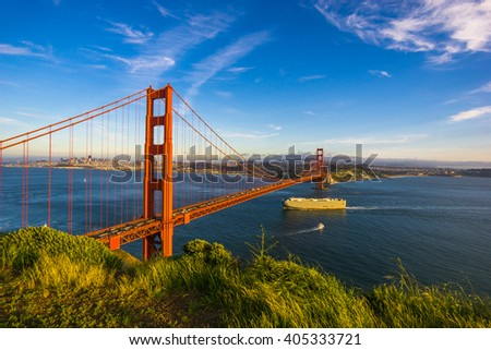 Beautiful Golden gate bridge, San Francisco, California