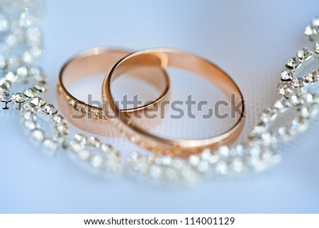 beautiful golden rings - stock photo