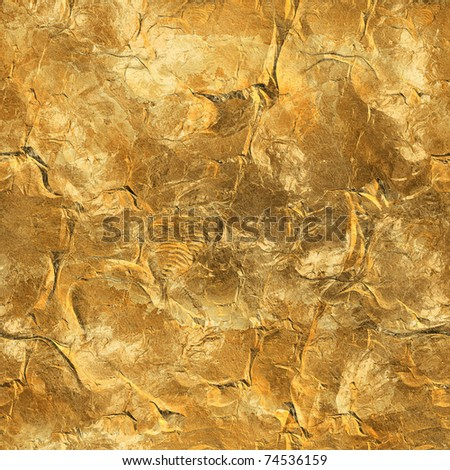 beautiful golden seamless background - stock photo