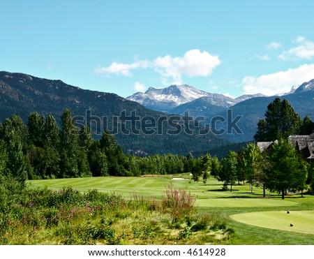 Beautiful golf course. - stock photo