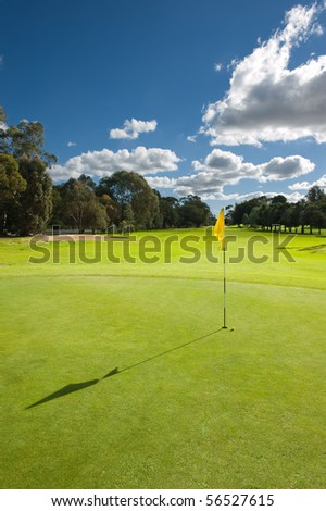beautiful golf course - stock photo