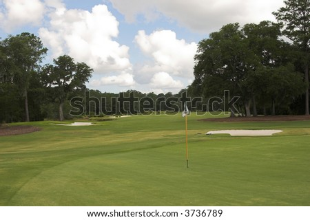 beautiful golf course green and fairway
