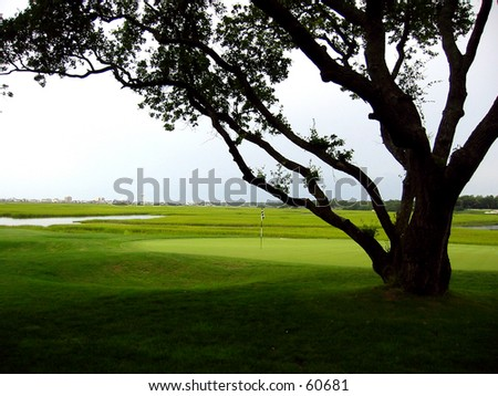 Beautiful Golf Hole - stock photo