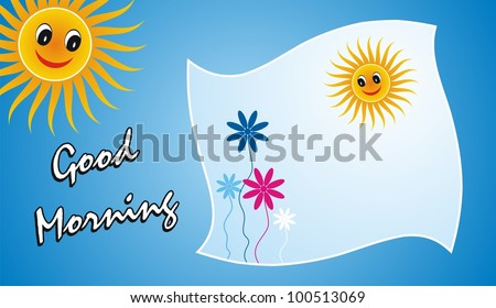 Beautiful good morning greetings - stock photo