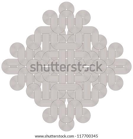 Beautiful graphic shape on white background - stock photo