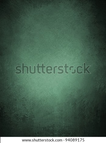 beautiful green background illustration design with elegant dark vintage grunge texture and black vignette frame on border with empty blank copy space for ad or brochure - stock photo