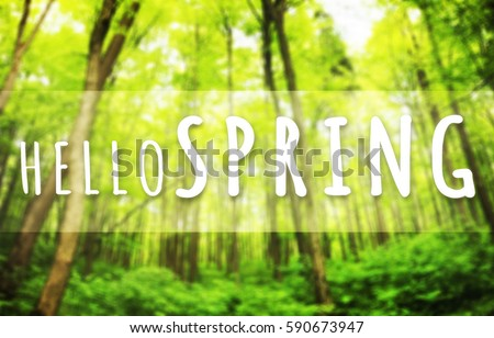 Beautiful greeting card words welcome spring stock photo 590673947 beautiful greeting card with words welcome spring m4hsunfo