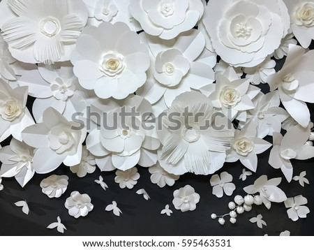 beautiful group variety style handmade quilling stock photo