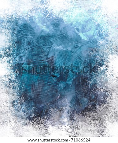 Beautiful grunge splatter background in soft grey and caribbean blue- Great for textures and backgrounds for your projects! - stock photo