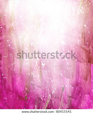 Beautiful grunge splatter background in soft magenta- Great for textures and backgrounds for your projects! - stock photo