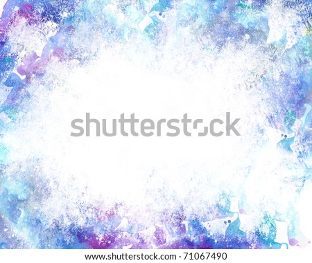Beautiful grunge splatter background in soft purple and blue- Great for textures and backgrounds for your projects! - stock photo