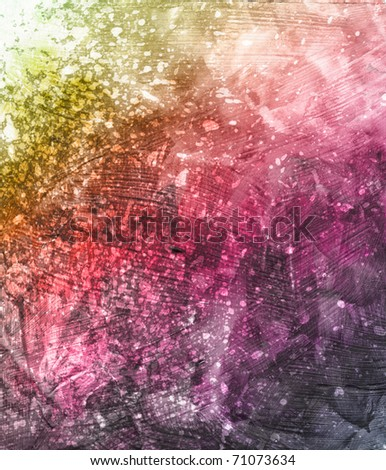 Beautiful grunge splatter background in soft purple and green- Great for textures and backgrounds for your projects! - stock photo