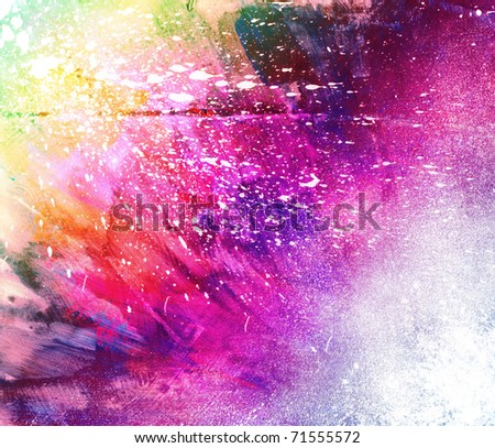 Beautiful grunge splatter background in vibrant pink, yellow and green- Great for textures and backgrounds for your projects! - stock photo