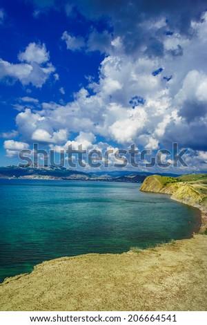 Beautiful gulf near Koktebel. Crimea. - stock photo