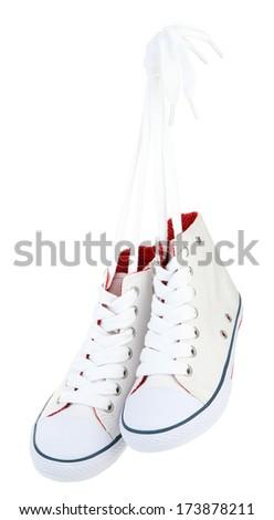Beautiful gumshoes, isolated on white - stock photo