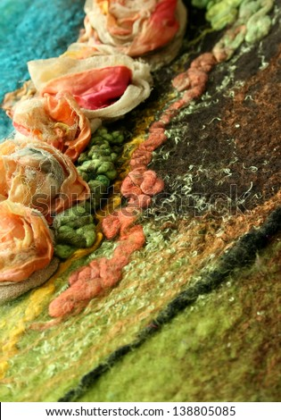 beautiful hand-made felt texture - background - stock photo