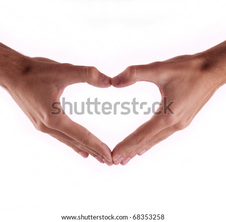 Beautiful hands in a heart-to-day Valentine - stock photo