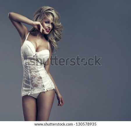 Beautiful happy woman - stock photo