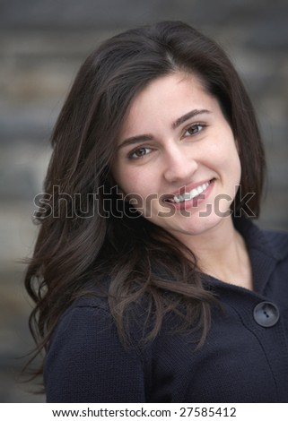 Beautiful happy young woman with great smile